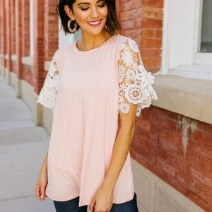 3D Lace Sleeved Top *CLEARANCE*